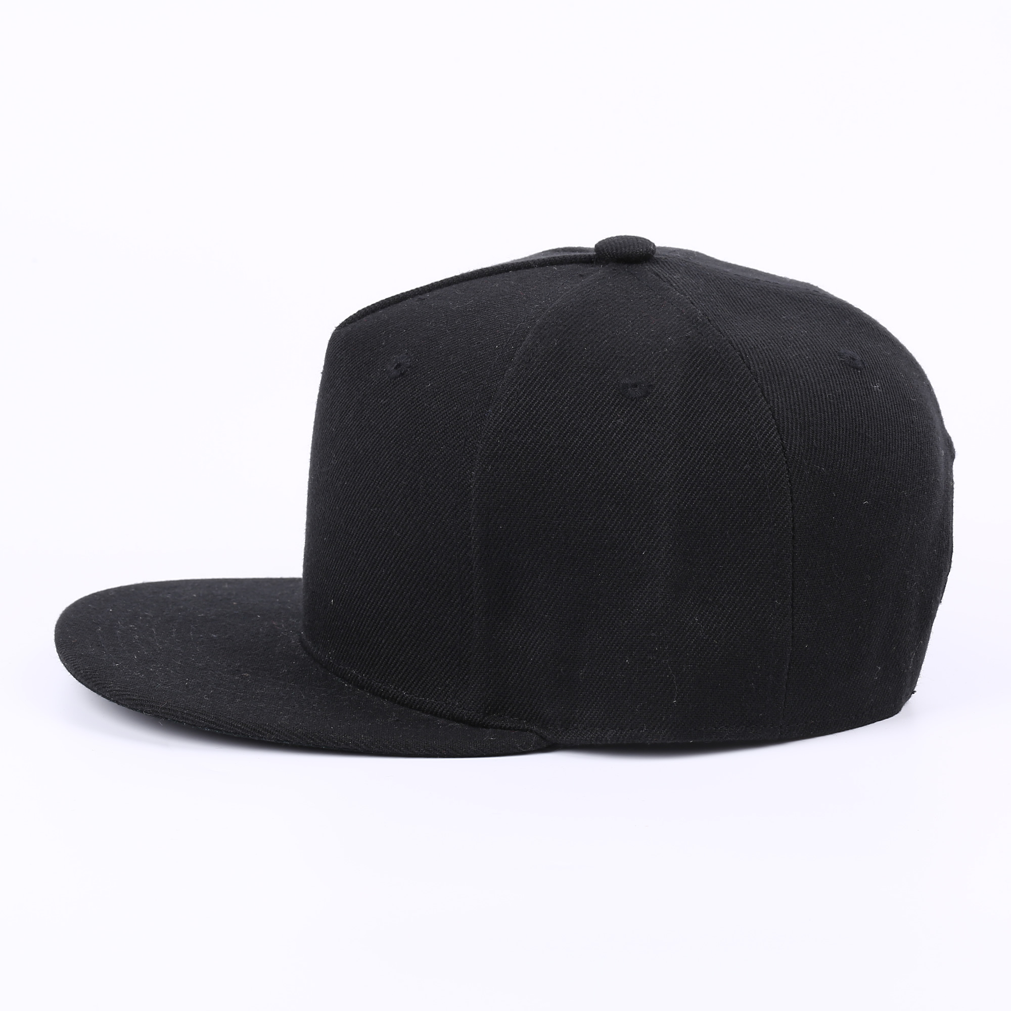 Hip Hop Flat Adult Solid Color Patched Baseball Hat Women Men Custom Snapback Cap