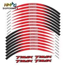 Misura per YAMAHA TMAX TMAX500 TMAX530 500 530 15 ''12 X Bordo Spesso Esterno Rim Sticker adesivi per ruote Banda