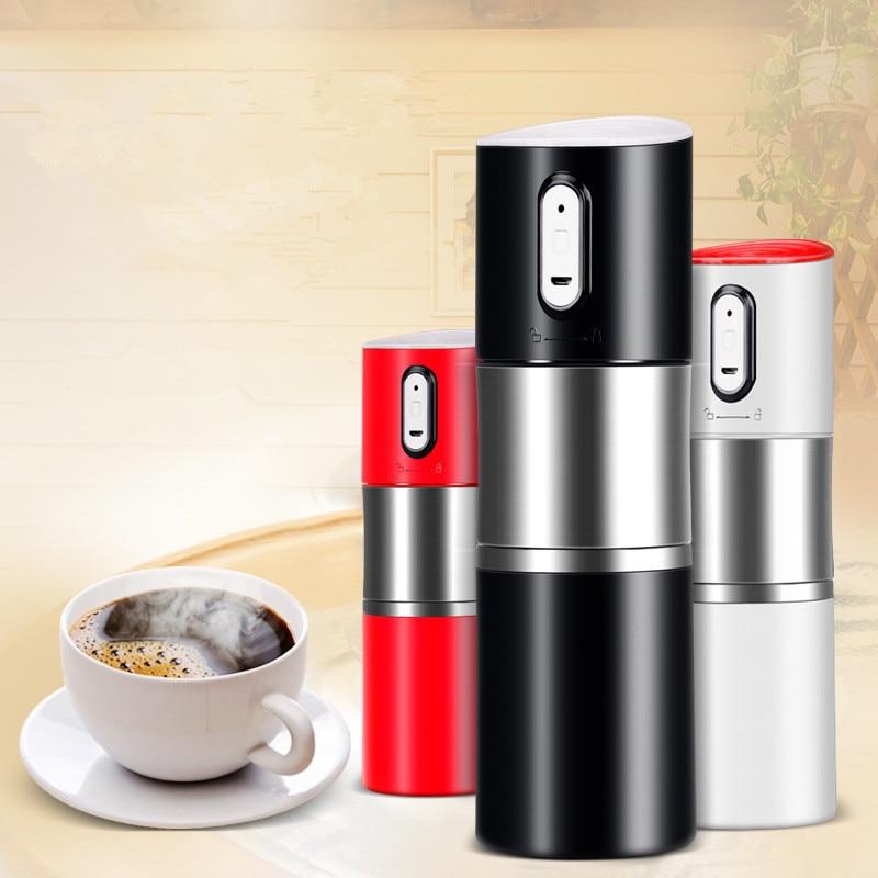Electric Coffee Grinder Cup Portable Automatic Coffee Machine Italian Car Coffee Pot Percolator 3 In 1