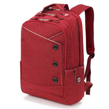 KINGSLONG 15.6 inch Laptop Backpack Women's Mochila for Teenagers Fashion school backpack linen Casual Bags Travel bag for Women - DISCOUNT ITEM  61% OFF All Category