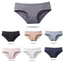 Women Sexy Panties Cotton Low Waisted Briefs Solid Color Girl Lingeries Thong Shorts Ladies Panty Seamless Underwear sexy paillette design low waisted solid color women s mini shorts