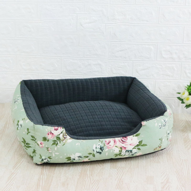 Pet Cat Dog Bed Warm Cozy Dog House Soft Nest Dog Baskets House Mat Autumn Winter Waterproof Kennel Removable Dog Bed 13