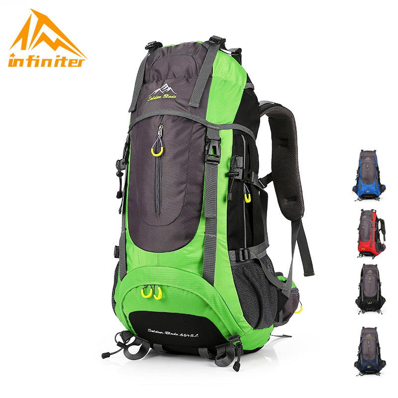 Profession Outdoor Telecontrol Mountaineering Bag 70L Large-Volume Hiking Travel Bag Multi-functional Water Resistant Backpack