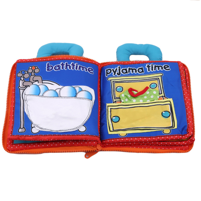 3D Activity Book Newborn Baby Toys Funny Soft Baby Quiet Cloth Book Infant Bear Night Early Educational Toy Books For Kids