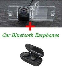 Reverse 1080P Car Rear view Camera for Mitsubishi Pajero V3 V6 V8 V93 V97 V5 L200 With HD Stereo TWS Bluetooth Earphones