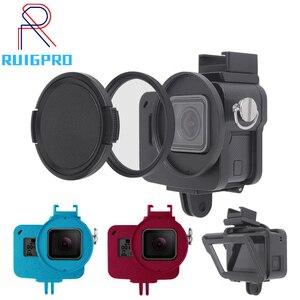 Image 1 - Aluminium Hero 5 6 7 obudowa aluminiowa obudowa ochronna obudowa metalowa rama filtr UV do akcesoriów GoPro Go Pro hero