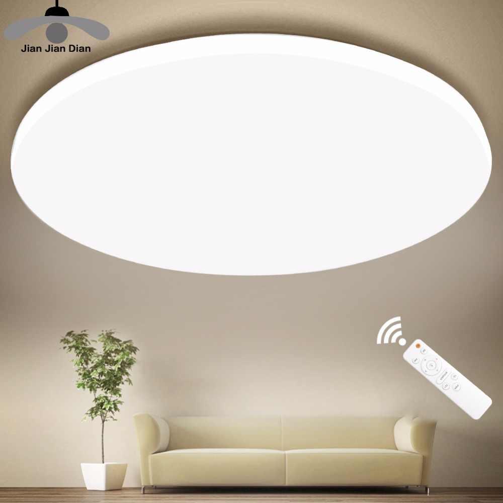 Iluminação moderna ultrafina led, suporte para teto, 110v 220v, lâmpada com controle remoto, para sala de estar e quarto cozinha