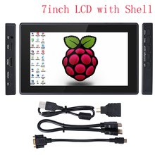 For Raspberry Pi 4 Model B Touch Screen 7 inch LCD 1024x600  Toughened Glass IPS HDMI VGA Display With Holder RPi 3B/3B+