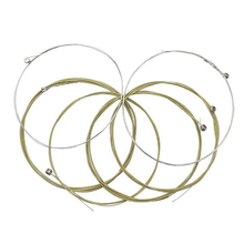 6PCS Acoustic Guitar Strings Set Stainless Steel Core Coated Copper Alloy Wound 1st-6th (.010-.047) martin m170 80 20 bronze round wound extra light acoustic guitar strings 010 047