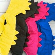 Новинка года, брендовая Детская жилетка с динозавром для маленьких мальчиков и девочек, пуховая куртка на молнии с капюшоном, жилет, пальто Зимняя плотная теплая верхняя одежда, От 0 до 5 лет
