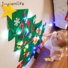 LED DIY Felt Christmas Tree Navidad Christmas Decorations For Home Natal Kids New Year Gift Game Kerst Tree Ornaments Decor melody gardot københavn