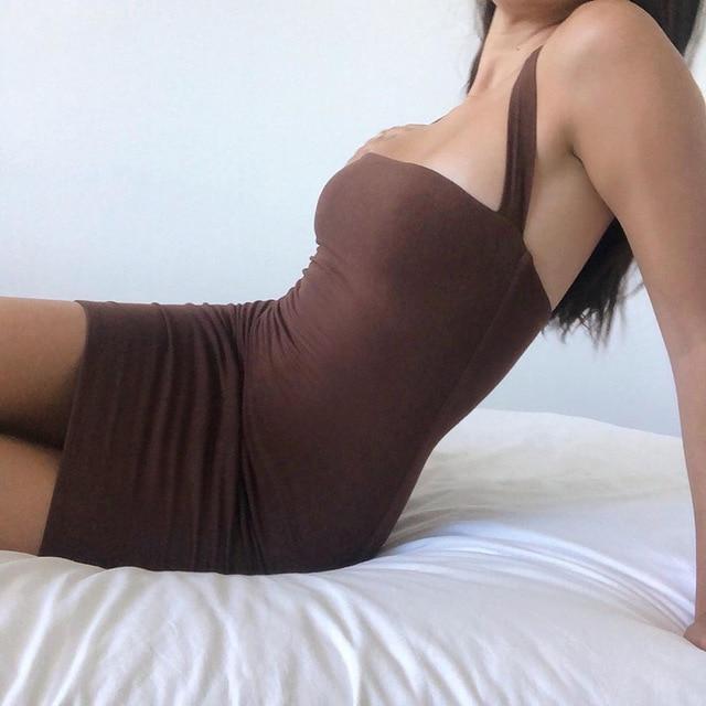 Yimunancy Bodycon Dress Women Halter Sexy Dress 2020 Ladies Summer Dress 3