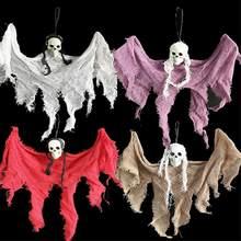 Decoración de casa huancada de fantasma de colgante para Halloween, 30cm, accesorios para el hogar, barra de puerta, decoraciones de Halloween