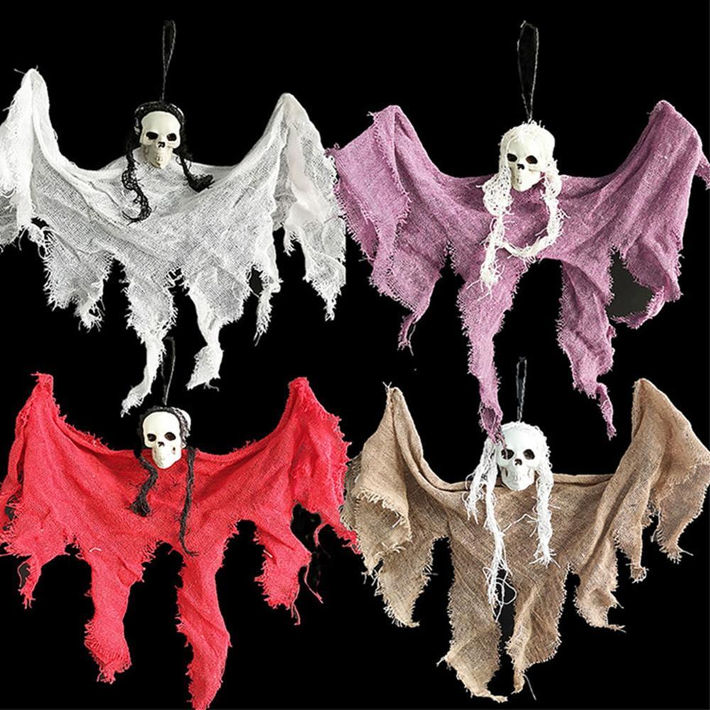 Recién llegado 30cm Halloween colgante fantasma Huanted casa decoración Grim Reaper Horro accesorios hogar puerta Bar Halloween decoraciones