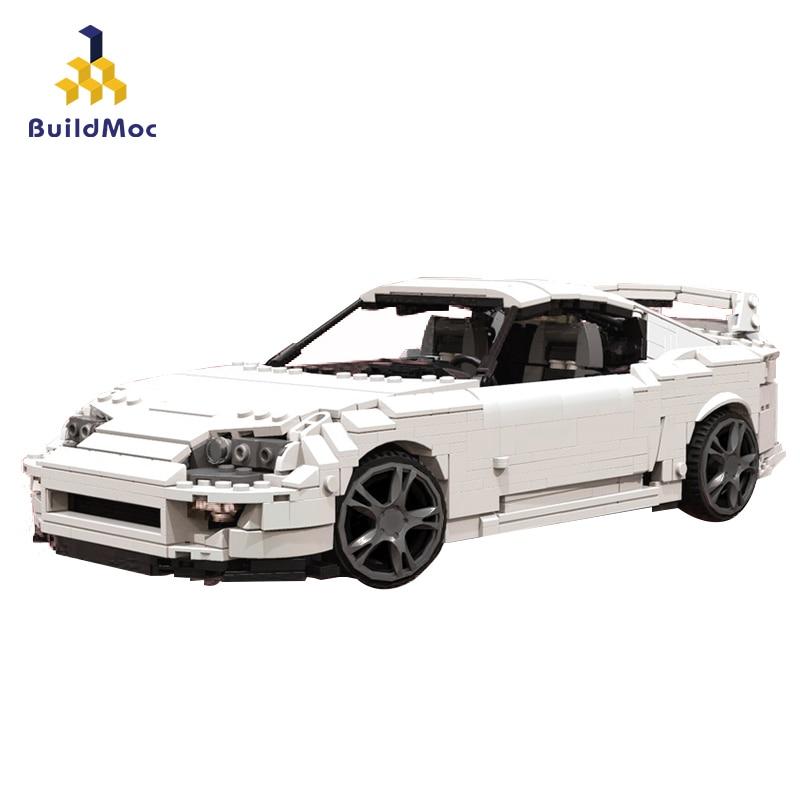 BuildMoc Technic Series T31841 Toyota Supra Road Vehile Model Building Block Blocks Compatible Lepining 29256 Christmas Gift Toy