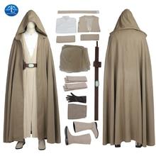MANLUYUNXIAO New Mens Outfit Star Wars The Last Jedi Luke Skywalker Costume Halloween Cosplay For Men Custom Made
