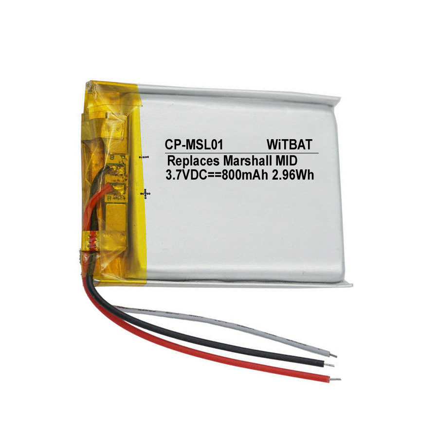 3.7V 800mAh Battery for Marshall MID Bluetooth headset battery Li-Polymer Rechargeable Accumulator Replaceable <font><b>SR603040</b></font> image