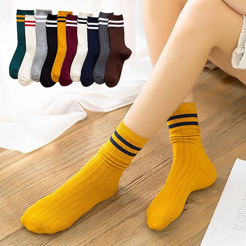 Милые смешные хлопковые дизайнерские женские цветные японские Школьные носки в стиле Харадзюку с надписью Sox, круглые желтые свободные пол...