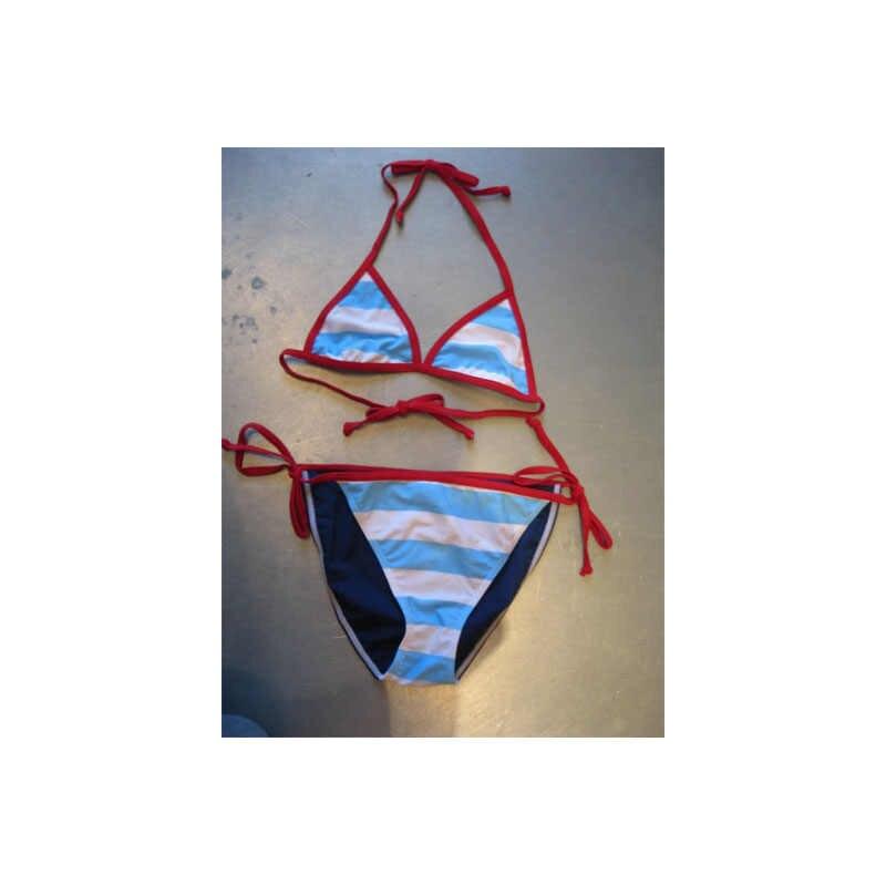 Vrouwen Meisjes Zomer Kind Bikini Set Halter Bh Badpak Badmode Driehoek Bader Zwemmen Pak