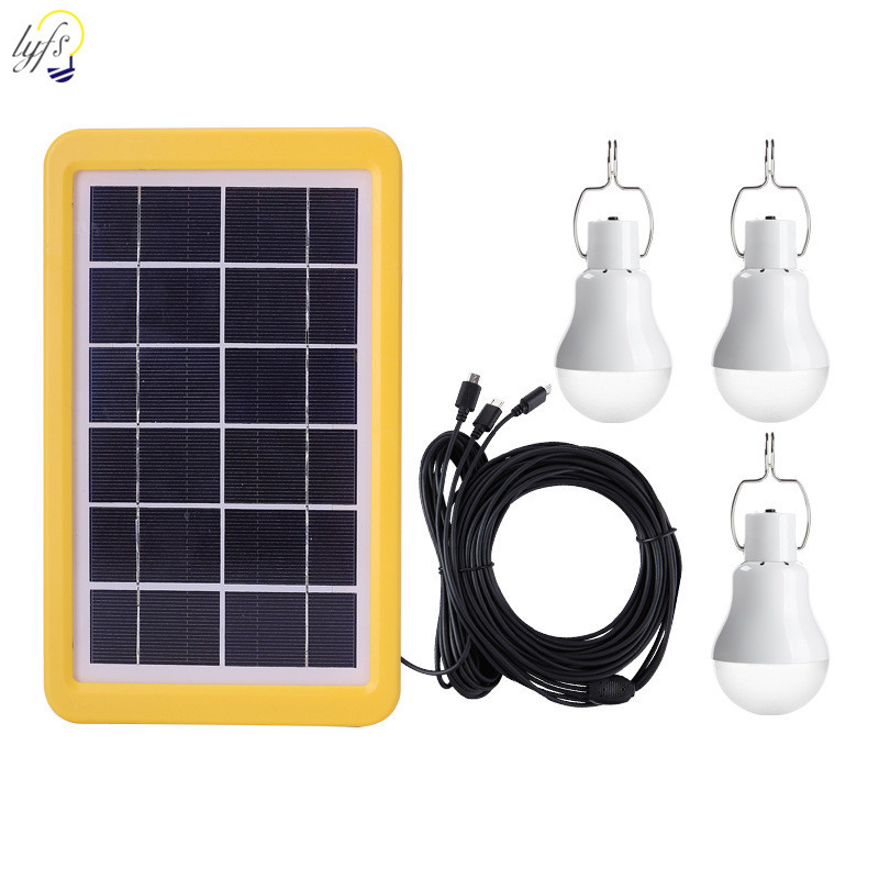 Solar Light Bulb Outdoor Waterproof With Hook Solar Lamp Garden Courtyard Emergency Energy Saving Light Bulb