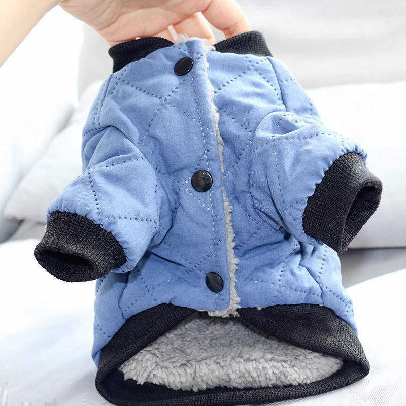 Vestiti Del Cane di inverno Fulvo Giacca di Cotone Addensare Vestiti Caldi di Inverno per Cani di Piccola Taglia Giacca Cappotto Maglione Cucciolo Cani Animali Costumi