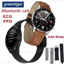 جرينتيجر L7 بلوتوث دعوة ساعة ذكية الرجال ECG PPG معدل ضربات القلب مراقبة ضغط الدم IP68 مقاوم للماء ساعة ذكية أندرويد IOS VS