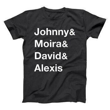 JOHNNY & MOIRA & DAVID & ALEXIS camisetas hombres/mujeres Tops Camisetas estampadas...