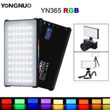 Yongnuo yn365 rgb led luz de vídeo 12 w bolso na câmera iluminação fotografia colorida para sony nikon dslr