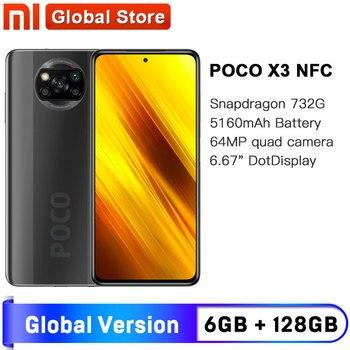 Перейти на Алиэкспресс и купить Глобальная версия смартфона Xiaomi POCO X3 NFC 6 ГБ 128 ГБ Восьмиядерный Snapdragon 732G 64-мегапиксельная четырехъядерная камера 6,67 дюйм120 Гц 5160 мАч
