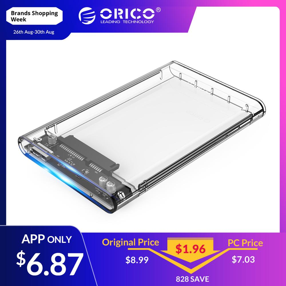 ORICO Hdd-Case Hard-Drive-Enclosure SSD Usb-3.0-Adapter Seagate Sata Transparent Samsung
