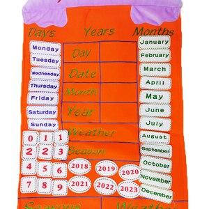Image 2 - 아기 조기 교육 달력 인형 (날씨, 날짜, 번호 등) 2020 새로운 어린이 학습 에이즈 보드 봉제 인형