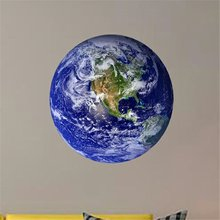 3D Earth Moon Fluorescent Wall Sticker Removable Luminous Home Decor Wallpaper for Bedroom