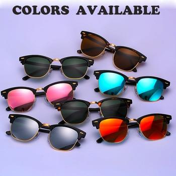 Real Glass lens UV400 men women Sunglasses 3016 retro driving Sun glasses Luxury desig Brand Rivet Design Goggles Elegant Female 2