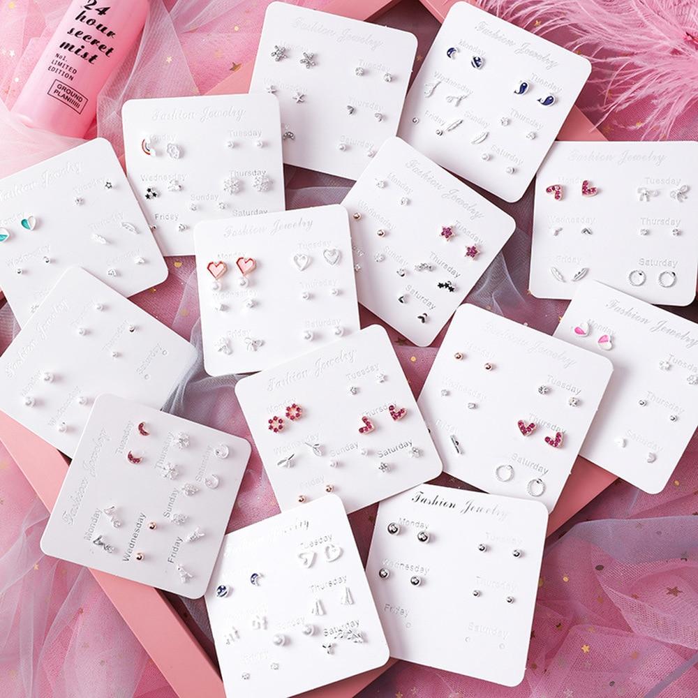 2020 New Korea Ins Style Girl Stud Earrings Small Mini Frosty Style Heart Earrings for Women Fashion Jewelry Accessories