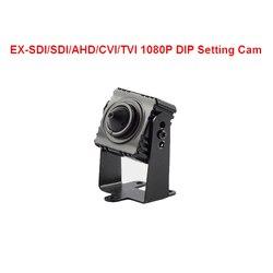 1080P kamera SDI AHD CVI TVI analogowe 6-In-1 kamera telewizji przemysłowej 3.7mm obiektyw 1080P Mini bezpieczeństwa kamera telewizji przemysłowej