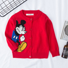Funfeliz Kids Cardigan Toddler Girl Boy Sweater 2019 Autumn Winter Top Jacket Popcorn Sweaters for Children Cartoon 12M-6 Years