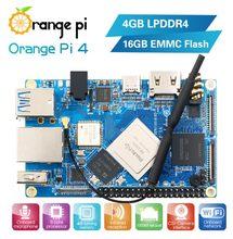 Laranja pi 4 4gb ddr4 + 16g emmc rockchip rk3399 Dual-coreCortex-A72 + quad-core Cortex-A53 desenvolvimento boardsupport android, ubuntu