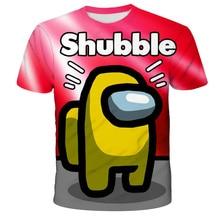 Tops Girls T-Shirts Short-Sleeve Boys Clothes Funny Print Among Us Teen Kids Child 14T