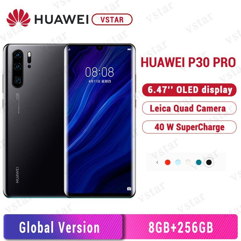 Глобальная версия Huawei P30 Pro 8 Гб 256 мобильный телефон 6,47 дюйма OLED-экран Kirin 980 Octa core Google playstore NFC 4200 мАч