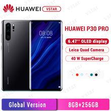 Versão global huawei p30 pro 8gb 256gb telefone móvel 6.47 polegadas oled em tela kirin 980 octa núcleo google playstore nfc 4200mah