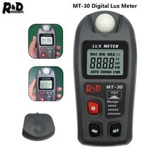 R& D MT30 Lux метр 0~ 200, 000lux измеритель диапазона светильник карманный дизайн осветитель lux/fc тестер фотометра экологическое тестирование