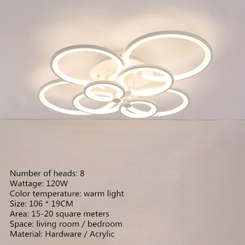 Artpad Modern Surface Mounted Led Ceiling Lights Living Room Bedroom Dining Room Indoor Ceiling Lighting Fixture 40/70/120W 10