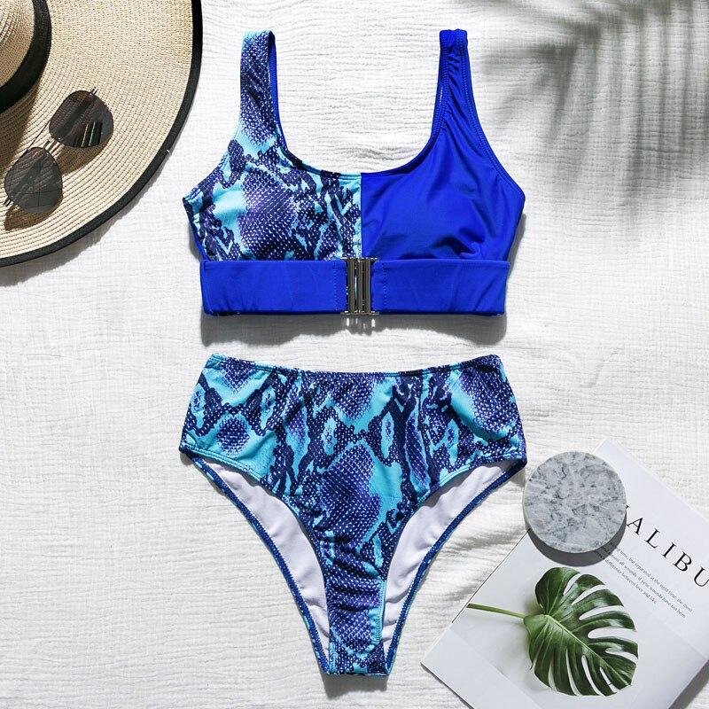 In-X Sexy Leopard one piece swimsuit One shoulder bikini 2019 High cut swimwear women monokini Padded bathing suit New bodysuit