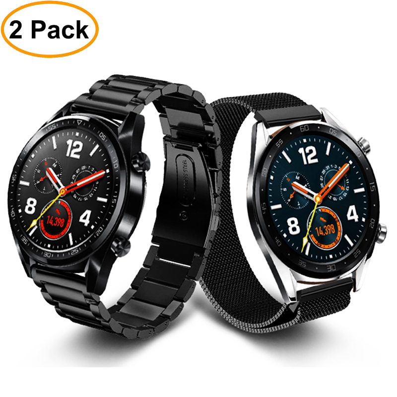 Huawei Watch Gt Strap For Samsung Galaxy Watch 46mm S3 Frontier/Classic Band 22/20mm Stainless Steel Metal Bracelet +film+tool