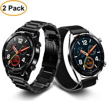 huawei watch gt strap for samsung galaxy 46mm S3 Frontier/Classic band 22/20mm stainless steel metal bracelet +film+tool