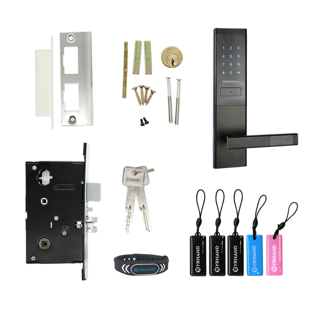 Image 5 - Security Electronic Door Lock, Smart Touch Screen Lock,Digital Code Keypad Deadbolt-in Electric Lock from Security & Protection