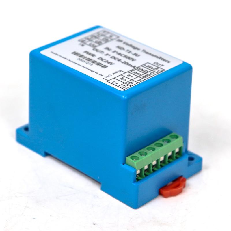 Saída trifásica 4-20ma da tensão do sensor da tensão da c.c.