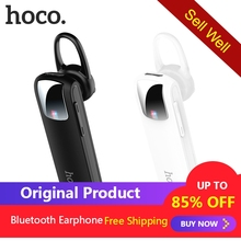 цена на HOCO E37 Mini Earhook Wireless Bluetooth Headset Earphone Hands free with Mic Business Headphone for iPhone  Samsung Huawei Car