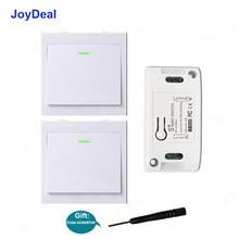 Receptor de interruptor inteligente inalámbrico, interruptor de pared de 433Mhz, 86, 110V, 220V, 1 canal, Control remoto en casa