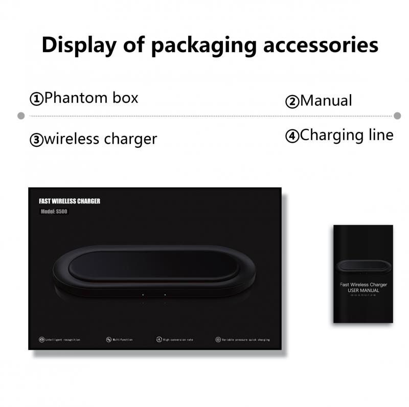 2 in1 Fast Dual Wireless Charger Pad for Airpods Pro for iPhone X XR XS 11 Pro Max Samsung S10 Xiaomi QI Induction 20W Charging